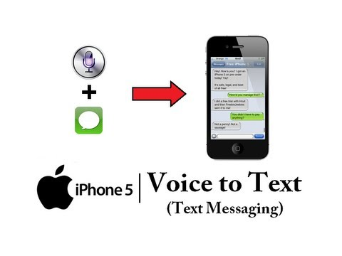 iPhone 5 - How to use Voice Text Messaging - Siri Voice to Text - Apple iPhone 5 Tutorial #03