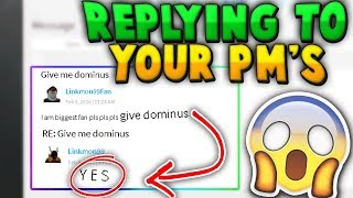 Answering CRAZY Fan Messages and Requests!! - Linkmon99 ROBLOX
