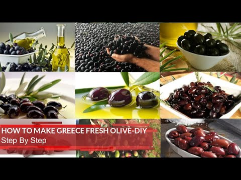 How to make Greece fresh Olives#70# (Step By Step) DIY