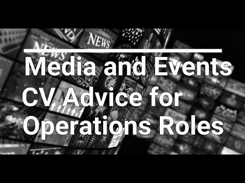CV Advice for Event Manager Jobs