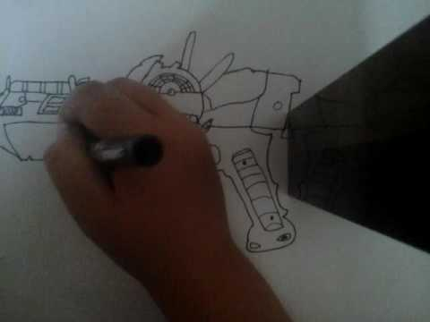 How to draw the raygun mark 2 part 2