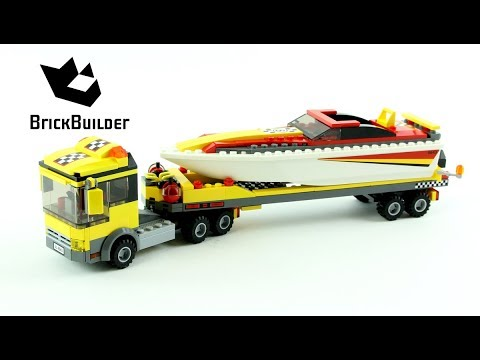 Lego City 4643 Power Boat Transporter - Lego Speed Build