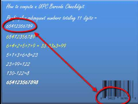 4 Minute Mentor - How to Compute a UPC Barcode Checkdigit
