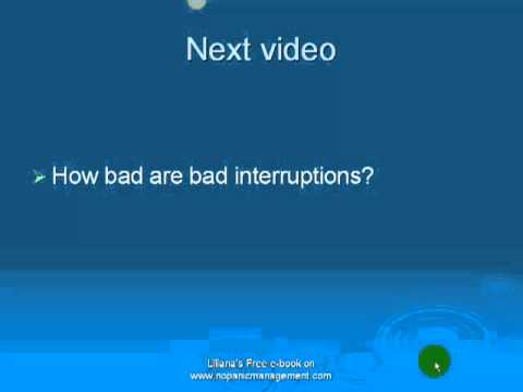 Interruptions at work - good and bad