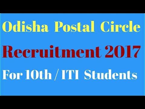 Odisha postal circle Recruitment 2017 . Recruitment 2017 -18.
