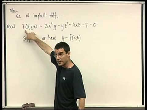 46 - The implicit function theorem for systems of equations