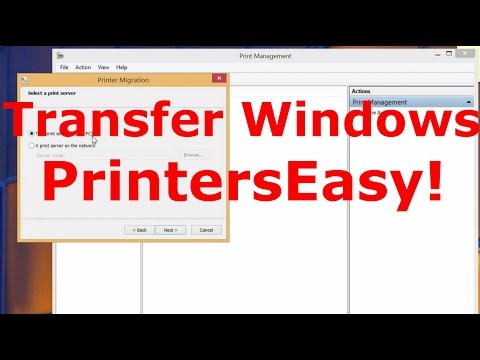 Easiest Way to Transfer Windows Printers To Another Computer