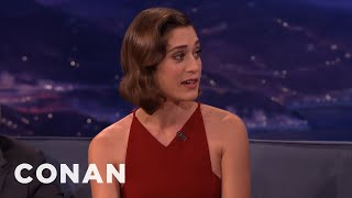 Lizzy Caplan: Michael Sheen Always Gets Me Sausage Gifts  - CONAN on TBS