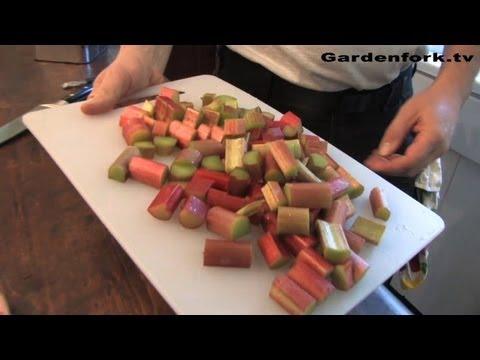 Rhubarb Sauce, a New Way to Use Rhubarb