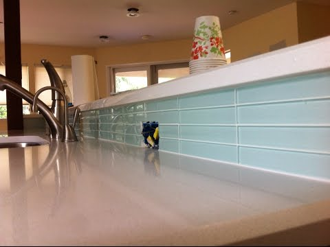 How to Tile A Kitchen Backsplash Then Seal It For Grouting #DaveBlake License Tile Contractor