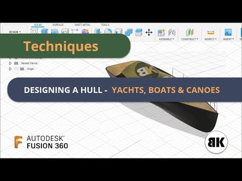 Fusion 360: Designing a Hull for Yachts, Boats & canoes