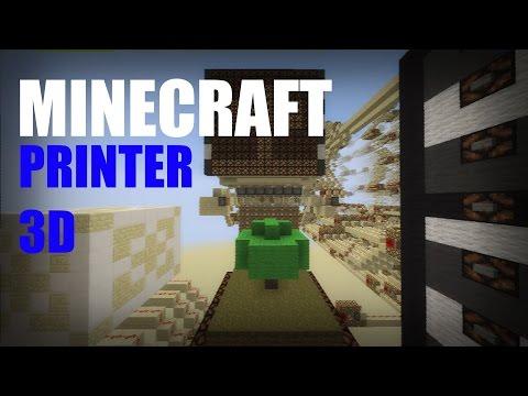 Minecraft: Redstone 3D Printer