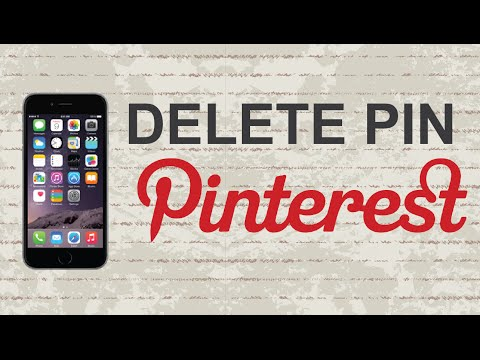 How to delete pin on Pinterest mobile app (Android / Iphone)