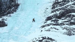 Man vs. Frozen Waterfall: An Adventure in Ice Climbing
