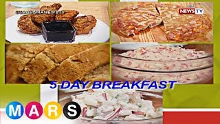 Mars: Five-day breakfast menu