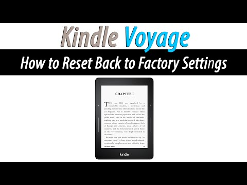 Kindle Voyage - How to Reset Back to Factory Settings