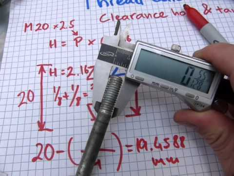 Clearance hole and tap size calculation