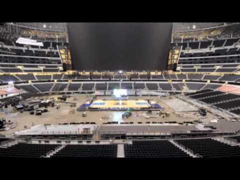 Cowboys Stadium Basketball Time-Lapse