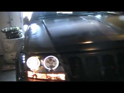 How to install projector style headlights with LED`s and Halo`s on the 1999-2004 jeep grand cherokee