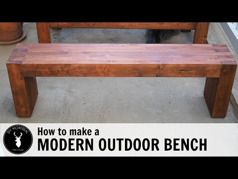 How to make a modern outdoor bench or coffee table from 2x4s