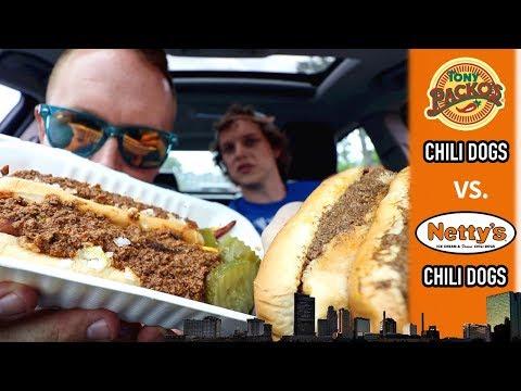 Tony Packo's Chili Dog vs. Netty's Chili Dog in Toledo, Ohio