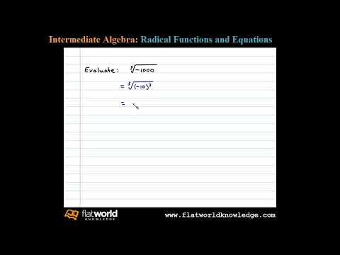 Evaluate a Cube Root of a Negative Number - Algebra fwk IA 05-0101