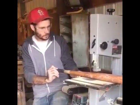 Cutting a baseball bat in half