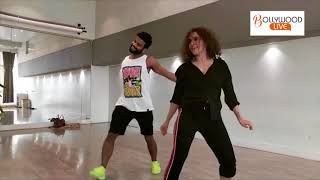 Sanya Malhotra Hot Dance with Chorographer Shazeb sheikh !! Bollywood Live