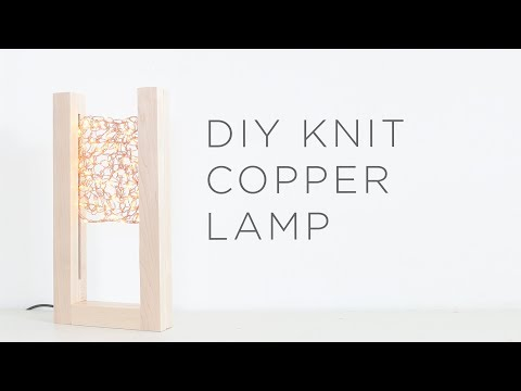 Knit Copper Lamp