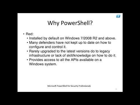 PowerShell Basics for Security Professionals Part 1