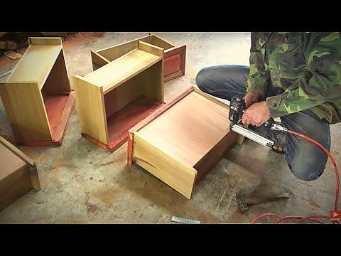 Amazing Woodworking Extreme Skills - How To Build Drawers Fastest and Easiest For Cabinets