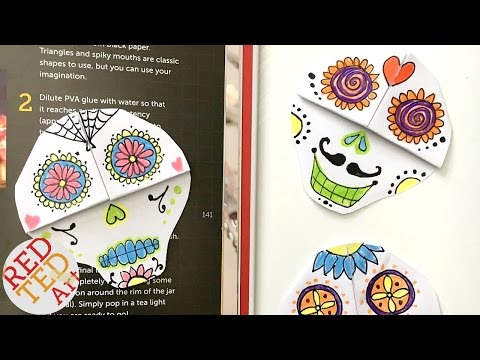Easy Skull Bookmark DIY - Sugar Skull - Day of the Dead - Halloween