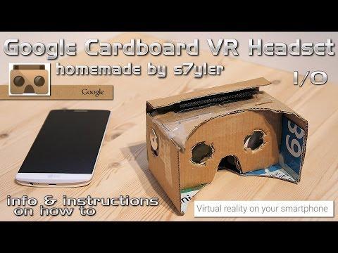 Google Cardboard VR Headset Homemade / DIY Virtual Reality