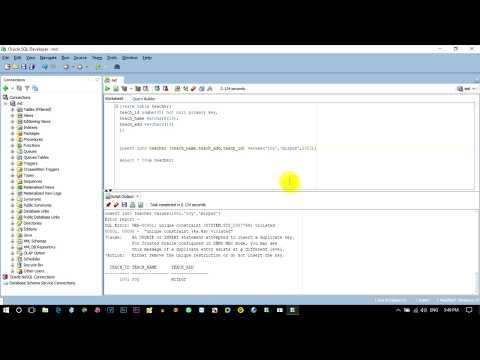 How to Create Primary in Sql Plus | Primary Key in Sql | Primary Key Example | Oracle Sql Developer