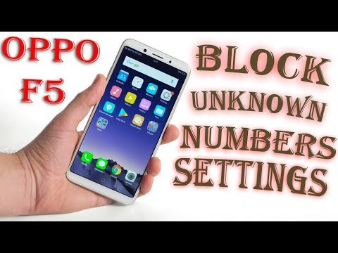 Oppo F5 | Block Number In Opoo f5 settings | Block Unknown Numbers | Oppo F5 Auto Reply On Calls