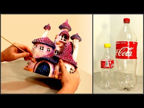 ❣DIY Whimsy Fairy House Lamp Using Coke Plastic Bottles❣