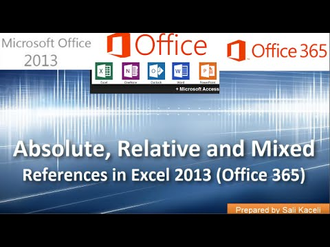 Absolute, Relative and Mixed Cell References in Excel 2013 (Office 365): Part 4 of 18