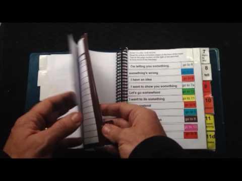 Auditory Scanning communication book