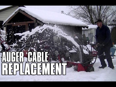 Snowblower Secondary Auger Cable Replacement