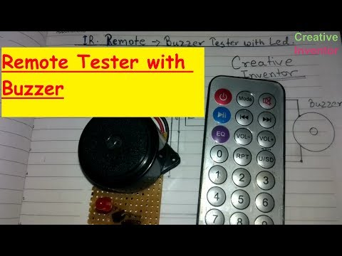 How to make Simple Easy IR - Remote Tester with Buzzer