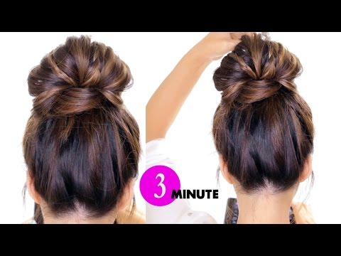 3-Minute BUBBLE BUN with Braids HairStyle ★ Easy Hairstyles