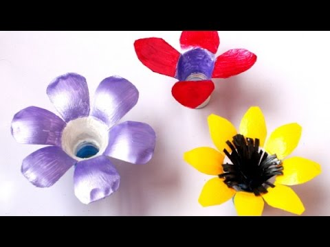 How To Make Pretty Plastic Bottle Flowers - DIY Crafts Tutorial - Guidecentral