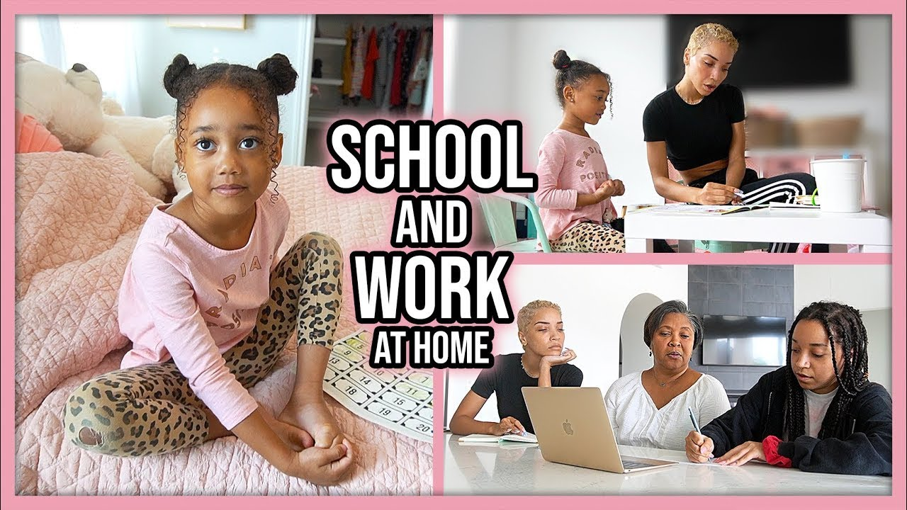 Our Daily Routine | Homeschool + Work at Home Mom