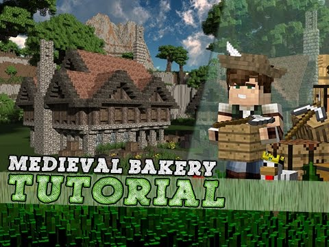 Minecraft Tutorial: Large Medieval Bakery! Part 1/2