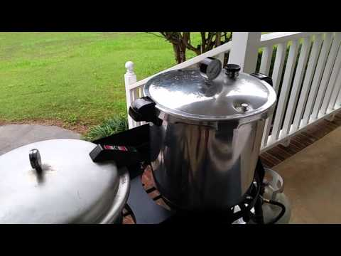 Canning on A dual burner camp stove