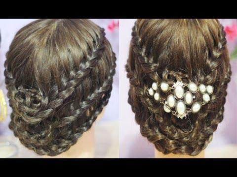 Elegant Triple Lace Rose Braided Bun Tutorial- Tudors Inspired Hairstyle