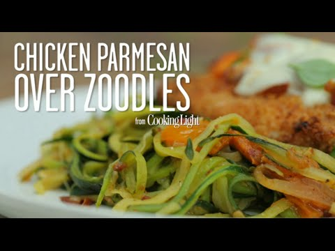 Chicken Parmesan Over Zoodles