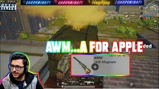 AWM..A FOR APPLE| CARRYMINATI | PUBG MOBILE | HIGHLIGHTS