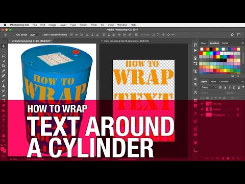How to wrap text around a cylinder