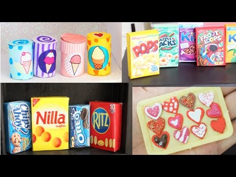 DIY | 10 Easy Miniature Doll Food Crafts you must try #1 - Compilation